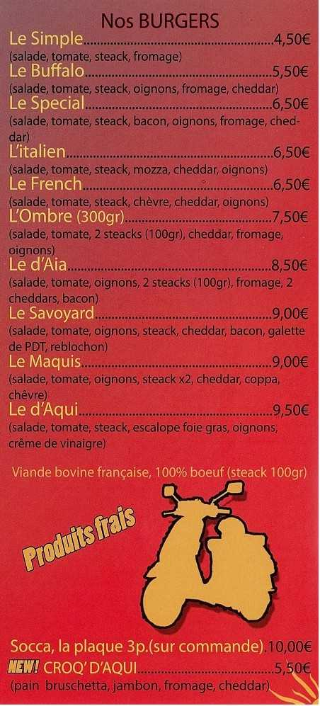 hamburgers burger viande bovine croque monsieur socca