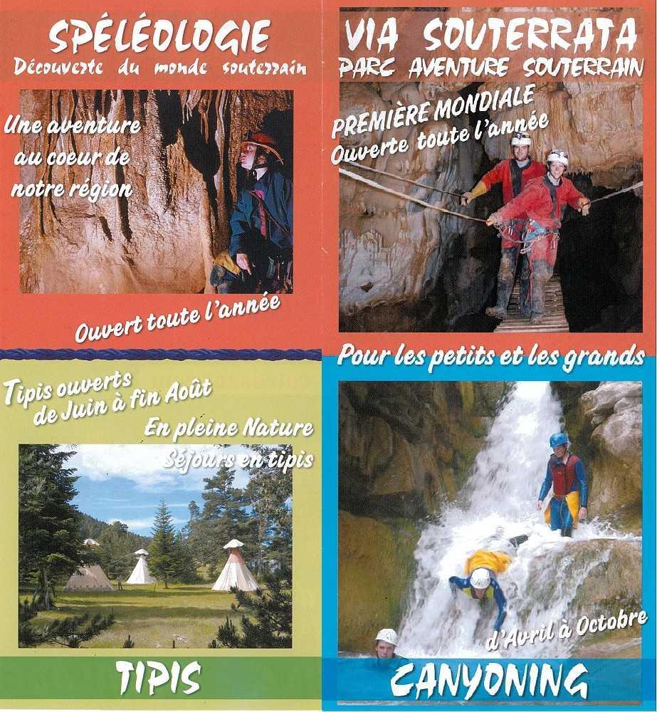tipis canyoning canyons via souterrata speleologie parc aventure