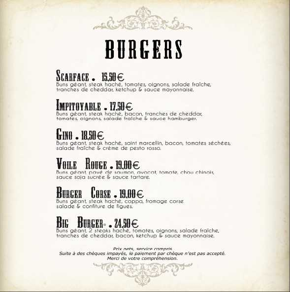 Burgers scarface gino voile rouge