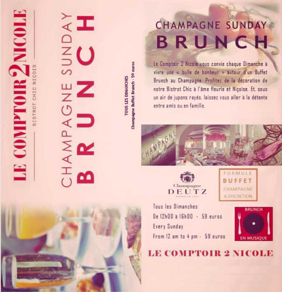 Brunch champagne deutz comptoir nicole