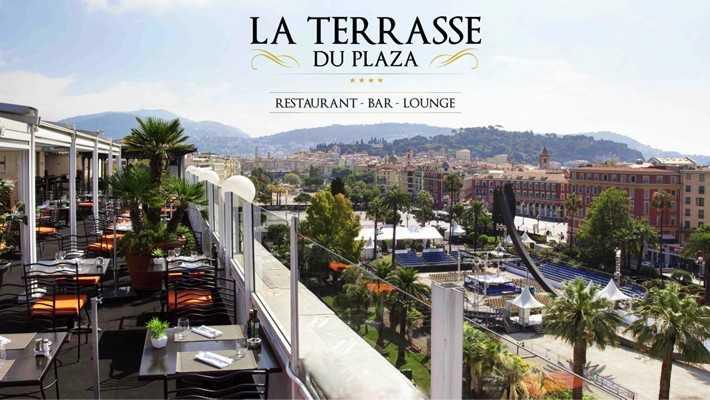 la terrasse du plaza bar lounge restaurant nice nice city life. Black Bedroom Furniture Sets. Home Design Ideas