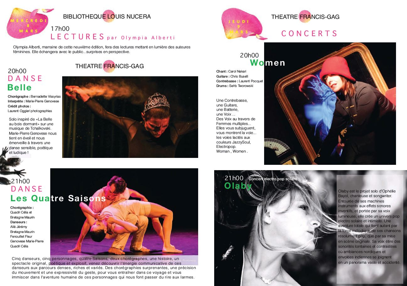 Femmes En Scenes Au Theatre Francis Gag Du 03 Mars Au 12 Mars